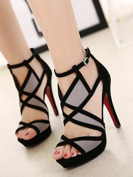 dames Hollow-out Stiletto hak Peep Toe Sandalen